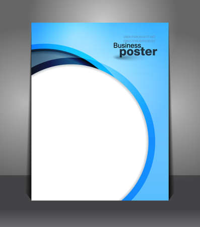 Stylish presentation of business poster. Flyer design content background. Design layout template Vector