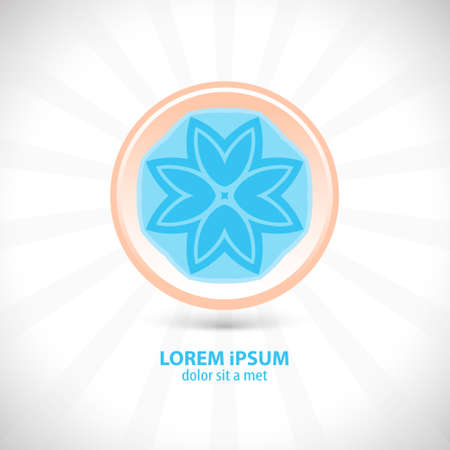 Flowers design symbol  Vector