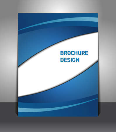 Brochure presentation of business poster. Flyer design content background.  Illustration