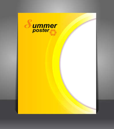 Summer Stylish presentation of business poster  Vector