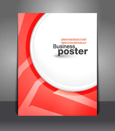 Abstract Stylish presentation of business poster  Vector