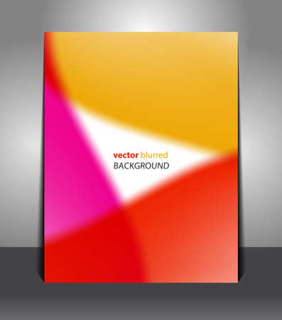 Stylish orange-red-pink poster with a place in the middle. Design layout template Vector
