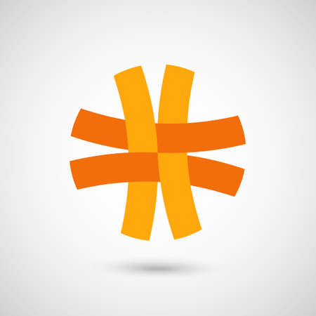 entwined: Design vector symbol, business icon. The symbol with the entwined stripes.