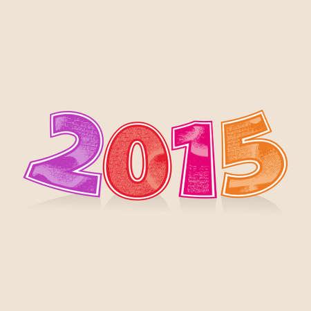 Abstract vector numbers 2015 New Years headline Vector