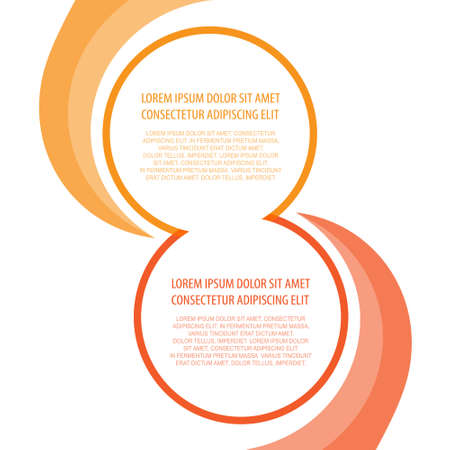blended: Presentation background blended circular elements with orange and red contour for your text