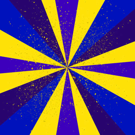 suprise: Abstract background blue-yellow of star burst