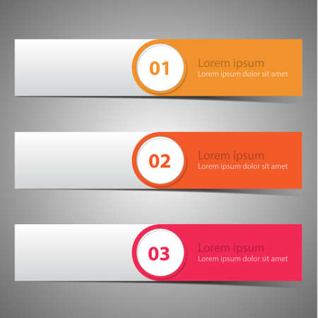 Set vector progress banners  variations in color Vector