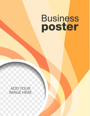 advertise: Advertise flyer business poster Illustration