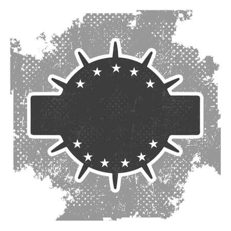 old stamp: Vintage grunge vector badge