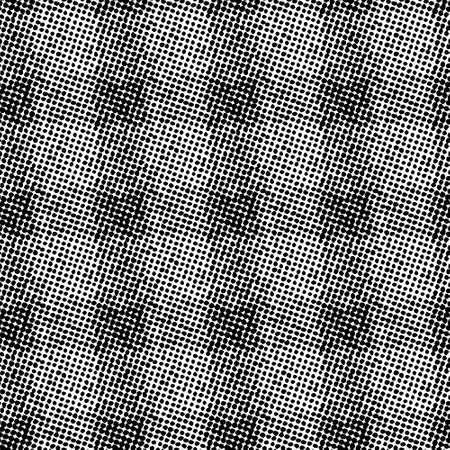 Raster halftone seamless pattern