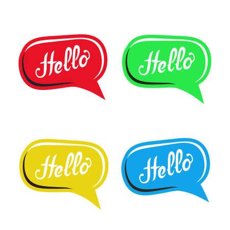 placement: Colorful speech bubbles set for text placement