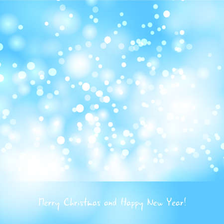 snowfalls: Abstract Christmas background greeting with snowfalls