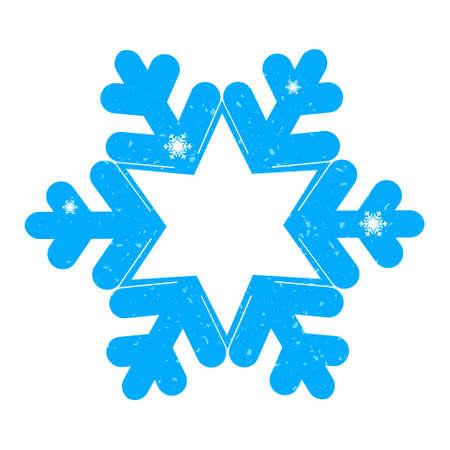 adesivo decorativo fiocco di neve Vettoriali