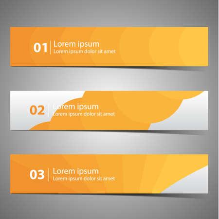 designer: Set vector progress designer banners, variations.