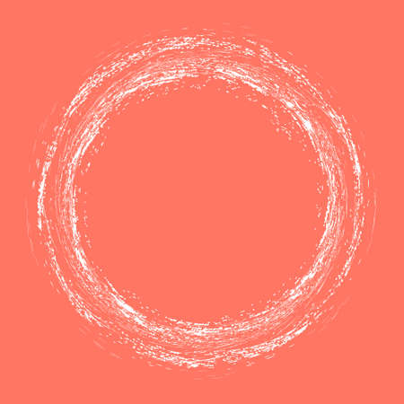 Grunge vector elements round on red background