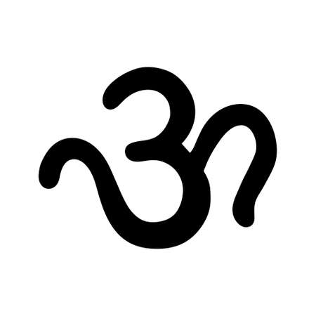 Om / Aum - sign and symbol of hinduism vector icon