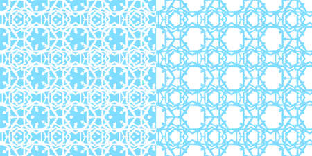 Seamless abstract blue decorative vector pattern on white background. Ilustração