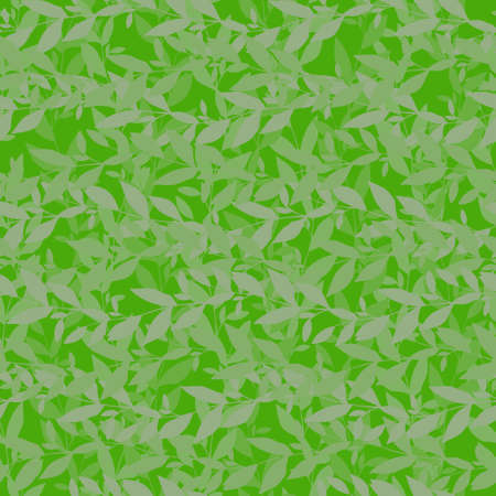 Vector green leafs seamless pattern. Abstract grunge texture background. Nature organic illustration.