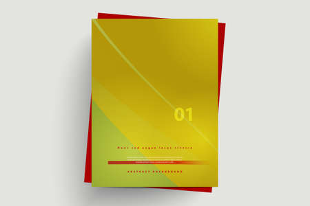 Modern vector abstract brochure. Stylish presentation of business poster. Business annual report cover template design.
