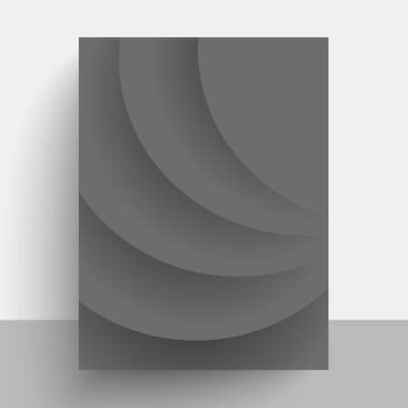 Vector poster design with gray rays. Abstract vector presentation of art poster. Flyer design content background. Design layout template.