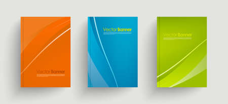 Modern vector abstract brochures. Stylish presentations of business poster. Business annual report cover template design.