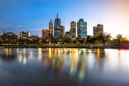 melbourne: Melbourne city sunrise Stock Photo