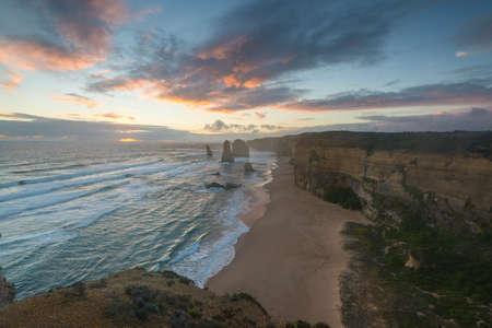 sunset at 12 Apostles, Victoria, Australia.