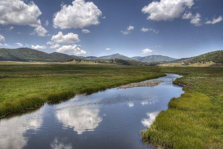 Valle Caldera, New Mexico Фото со стока