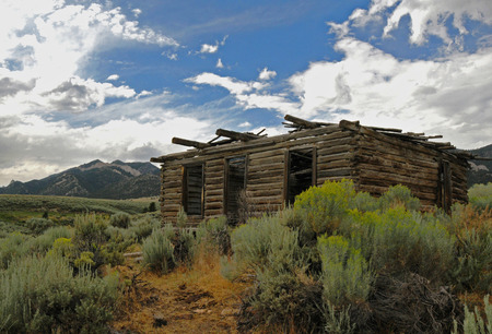 old cabin in the mountains for miners or fur traders Archivio Fotografico