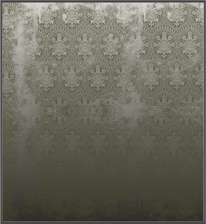 etched: victorian mirror etched illustration Stock Photo