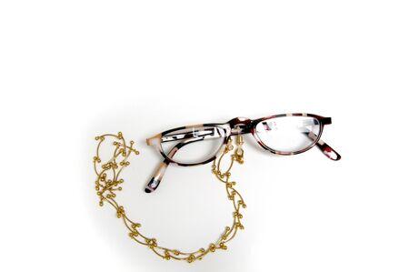 Half eye Reading glasses, eyewear on holder for around neck