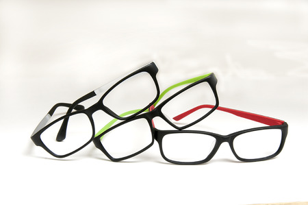 three frames with variations in color for selection at doctors office or purchasing frames