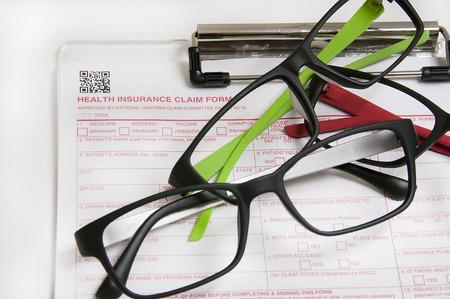 Vision insurance claim form (standard) Banco de Imagens