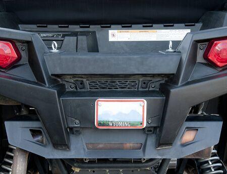 Detail Back of UTV off road vehicle for sport riding