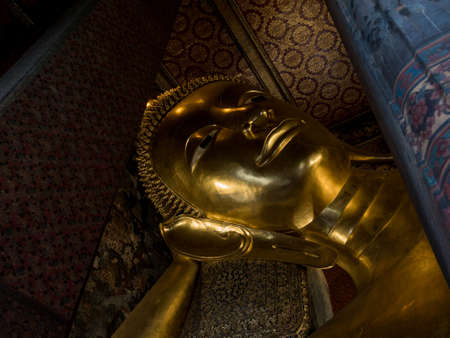 resides: The biggest Reclining Buddha in Thailand resides in Pho Temple
