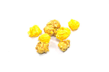 squaw: popcorn isolated in white