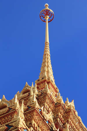Nice temple in gold colour in Phuket thailand Stock Photo