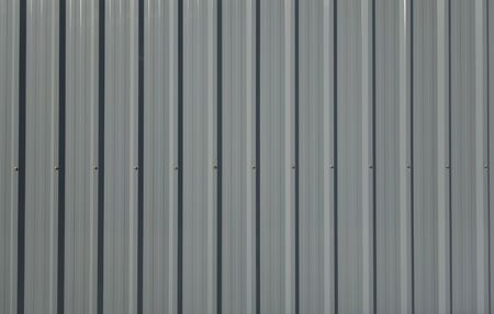 metal sheet: Gray corrugated metal sheet Stock Photo