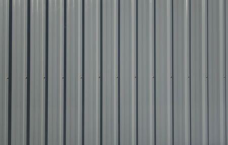 corrugated: Gray corrugated metal sheet Stock Photo