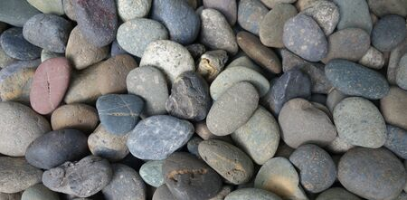 pebble: Gray pebble stone background Stock Photo
