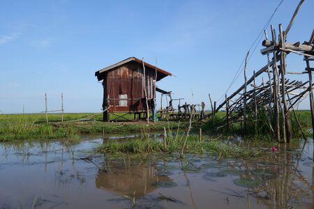 fishing hut: Fishing hut made from corrugated zinc sheets