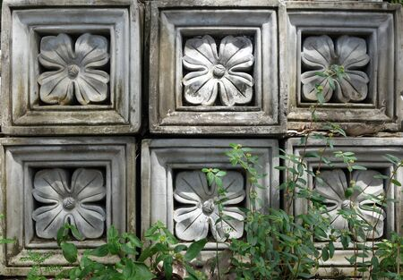 concrete blocks: Flower pattern concrete blocks