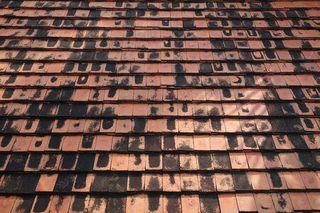 terracotta: Terracotta roof tiles Stock Photo