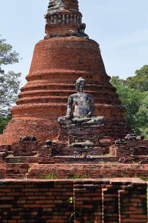 Thailand Ayutthaya Wat Chettha Thettharam, Ruin