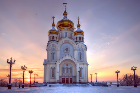 transfiguration: The Transfiguration Cathedral. Khabarovsk, Russia