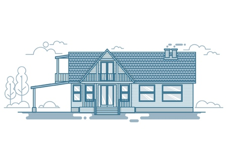Vector set of urban and suburban houses