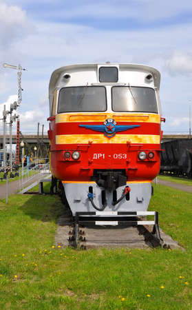 diesel train: Baranovichi, Belarus - May 14, 2015: diesel train DR-1 wagon. This is the first Soviet serial diesel train. These trains have started to build in Riga in 1963