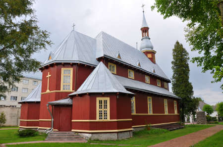 exaltation: The Church of the Exaltation of the Holy Cross in Baranavichy. Belarus. It was built in 1924