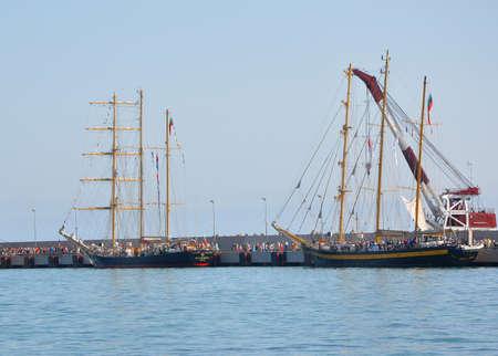 helena: Bulgarian sailboats Kaliakra and Royal Helena in the port of Sochi. Russia Editorial
