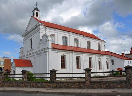 michael the archangel: Catholic church of St. Michael the Archangel in the city of Novogrudok. Belarus